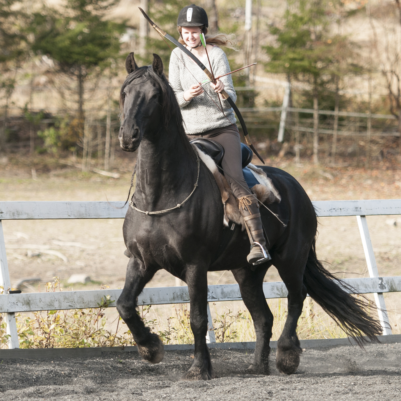 mounted archery bridleless batman3