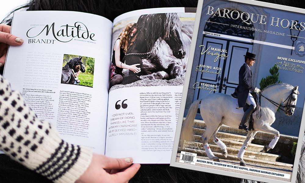 baroque horse magazine matilde brandt